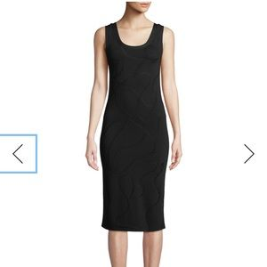 Helmut Lang Black Jacquard Dress